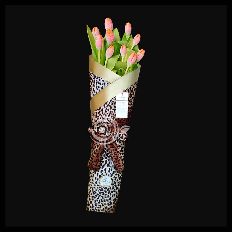 Flores envueltas en Manra, Flores en Mantas